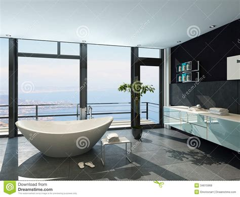3d House Plans Free ultramodern contemporary design bathroom interior with sea