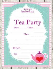 tea printable invitations tea teas and