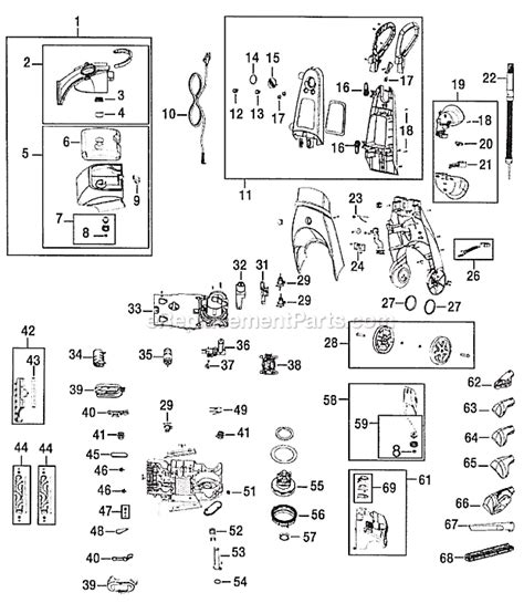 bissell proheat parts diagram bissell 9400 parts list and diagram ereplacementparts