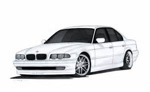 bmw 740i e38 drawing by vertualissimo on deviantart
