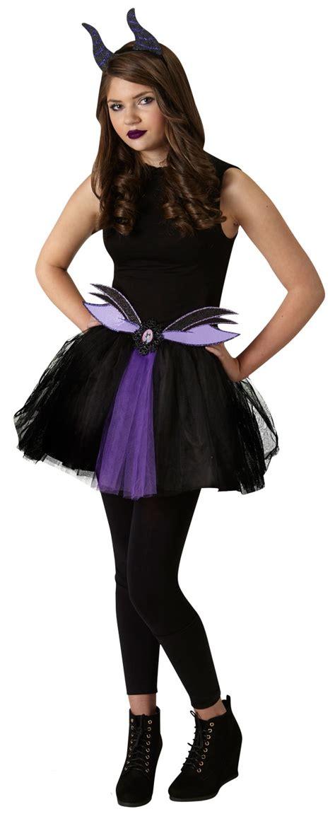 Hh 920592couple Costume Black maleficent tutu set fancy dress disney villain costume kit ebay