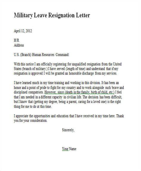 Service Leave Letter Exle 65 Sle Resignation Letters