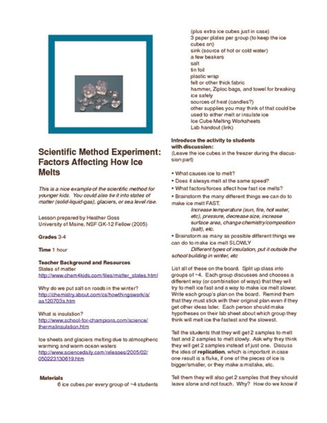 experimental design lesson scientific method collection lesson planet