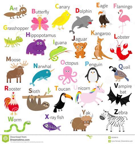 animal alphabet u education animal alphabet animal zoo animal alphabet character set white