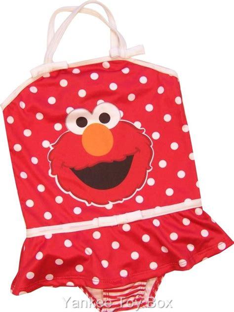 Swimsuit Elmo sesame elmo toddler one pc swimsuit 2t 4t ebay