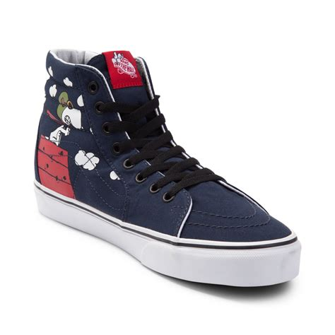 vans sk  peanuts flying ace skate shoe blue