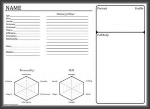 Character Template Sheet by Blank Character Sheet By Daedric On Deviantart