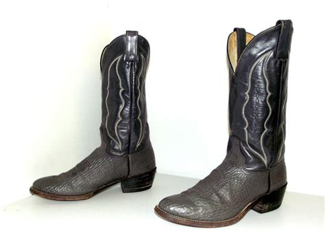 two tone grey leather abilene cowboy boots size 8 5 d or
