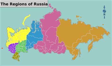 russia map by region regions of russia map