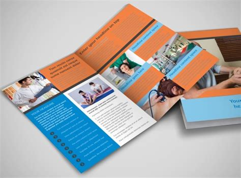 massage chiropractic office bi fold brochure template