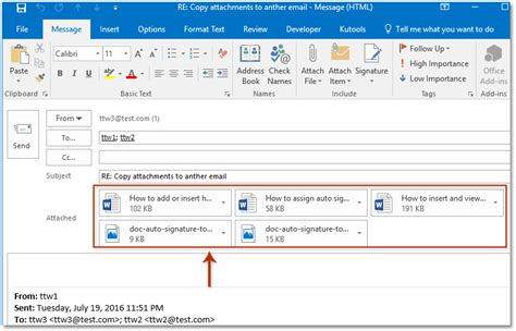 email with attachment how to copy attachment to another email in outlook