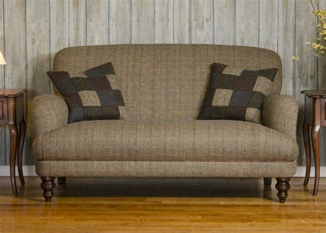 Leather And Tweed Sofa Tetrad Harris Tweed