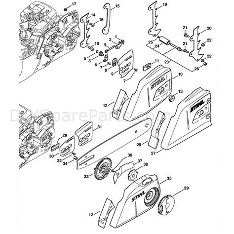 stihl ms 361 parts diagram stihl ms 361 chainsaw ms361 rz parts diagram chain