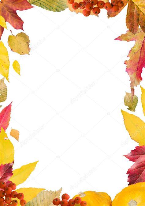 cornici autunno cornice di foglie d autunno verticale foto stock