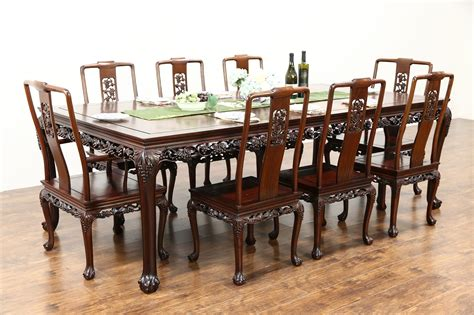 sold chinese rosewood vintage dining set table