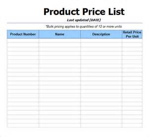 Download Price List Template Price List Template 9 Download Free Documents In Pdf