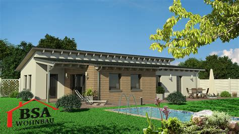bungalow pultdach gro 223 z 252 giger moderner bungalow mit pultdach bsa wohnbau
