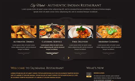 indian restaurant wordpress template id 300111813 from