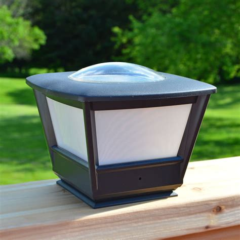 solar lights flat rail garden deck patio solar lighting