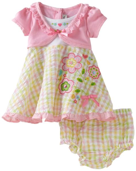 baby dress baby clothes for 187 youngland baby infant mock carigan flower seersucker dress with