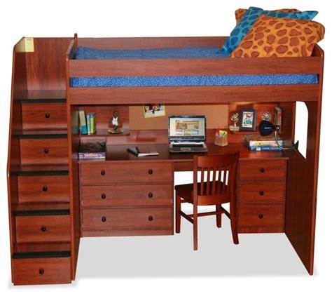 full size charleston storage loft bed with desk uye home loft bed with desk full size
