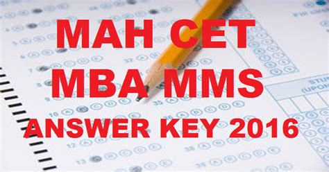 Jbims Cut For Mba by Mah Mba Cet Answer Key 2016 With Cutoff Marks For 12th