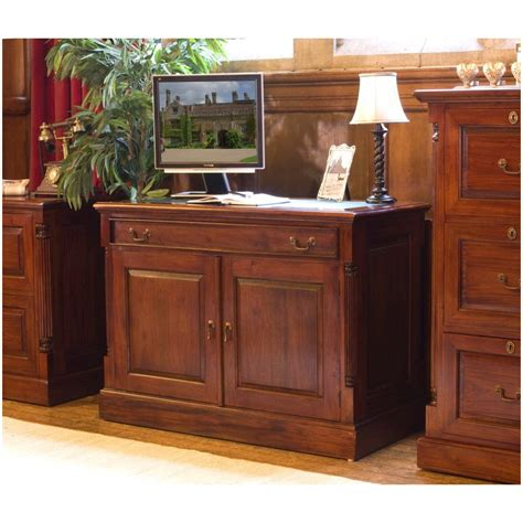 hidden office desk chateau solid mahogany furniture hidden home office pc