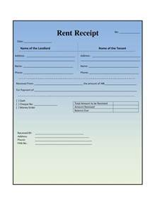 rental receipt template house rental invoice template in excel format free
