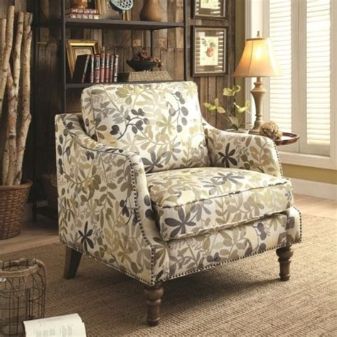 leaf pattern accent chair coaster upholstered accent chair in leaf pattern 902456