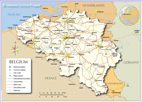belgium map political map of belgium nations project