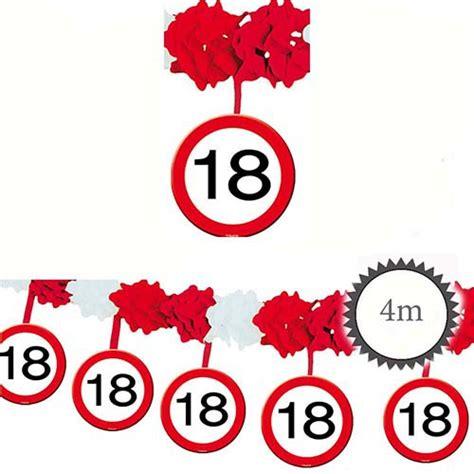 Girlande 18 Geburtstag by Girlande Verkehrsschild 18 Geburtstag 4m Partydeko
