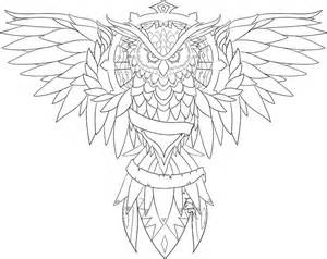 Owl Outlines Drawings by Owl Line Drawing Coloring Home