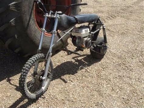 doodlebug wheelie bar mini bike start up and wheelie funnydog tv