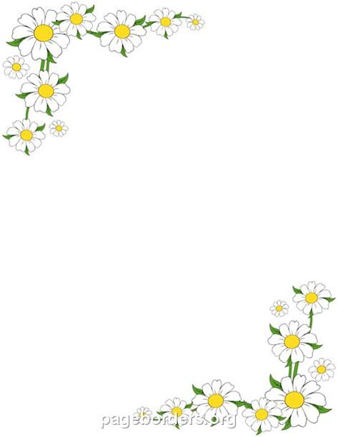 printable borders with flowers pin by muse printables on page borders and border clip art