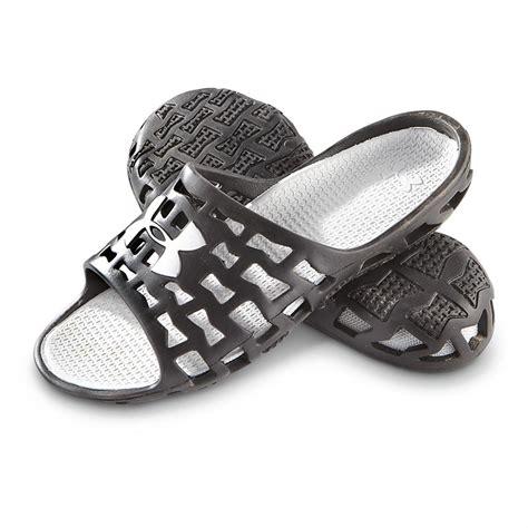 mens armour sandals armour mavrix slide sandals black metallic silver