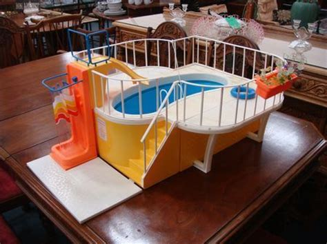 barbie doll house with swimming pool vintage barbie dream house swimming pool 1980 toy toys