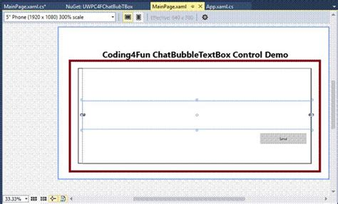 xaml page layout chatbubbletextbox control in uwp with xaml and c