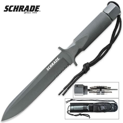 spear knives schrade survival large spear point fixed blade