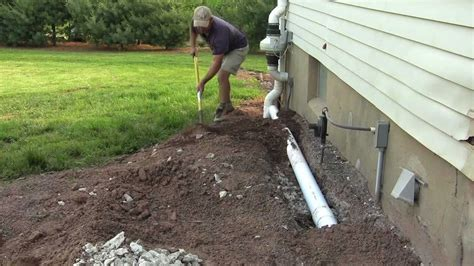 install drain pipe image gallery laying drain pipe