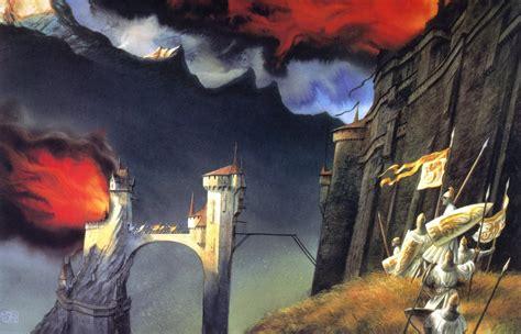 the art of john where the shadows lie john howe s tolkien artwork