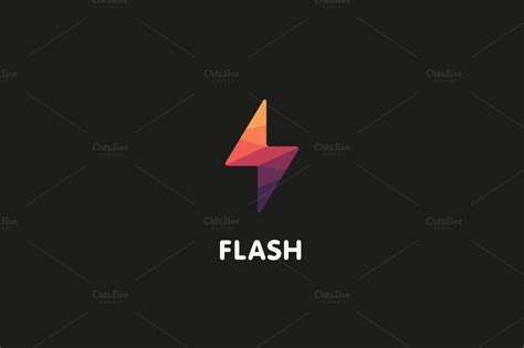 flash logo templates flash logo design vector illustation logo templates on