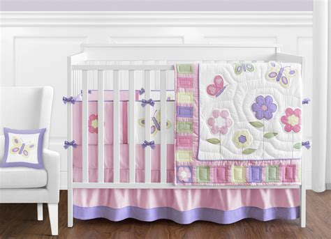 butterfly crib bedding set discount flower butterfly designer 9p baby girl crib quilt