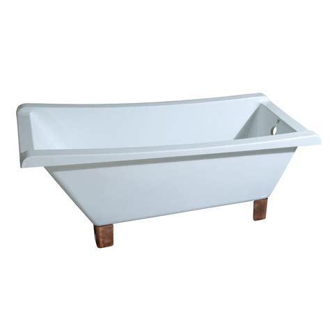 modern clawfoot bathtub aqua eden modern 5 6 ft acrylic slipper clawfoot non