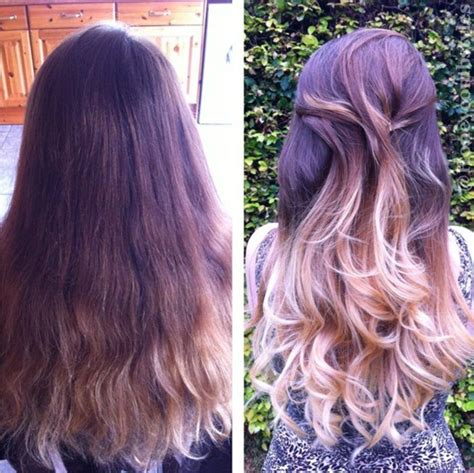 Ombre hair color brown and blonde hair tumblr