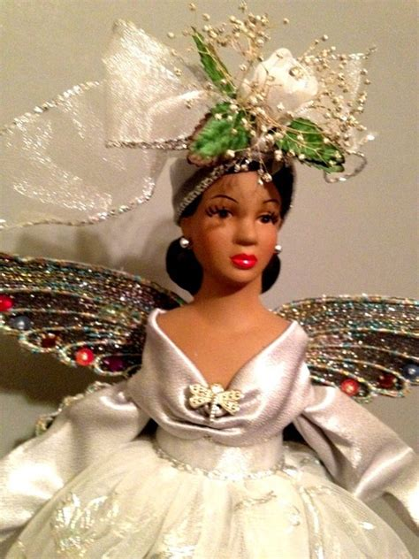 black tree angel american tree topper dragonfly theme