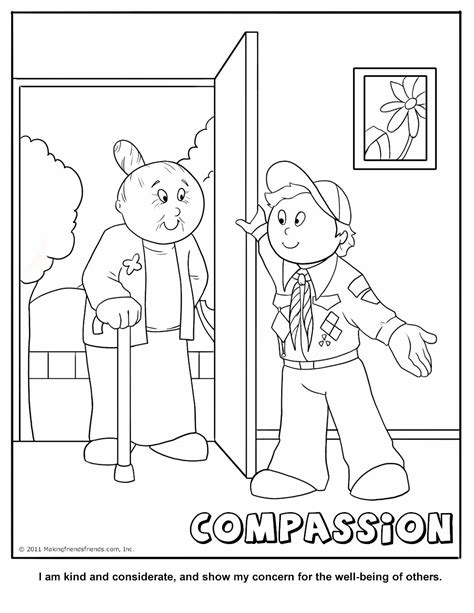 Cub Scout Compassion Coloring Page Free Printable Scout Coloring Pages Printable