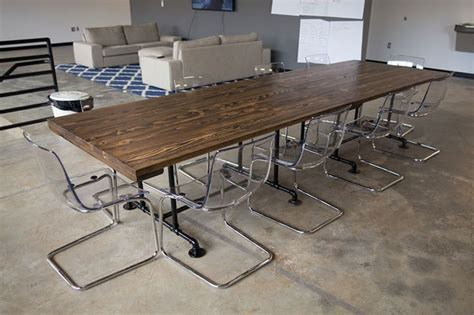 movable conference room tables solid wood industrial style conference tables this is two