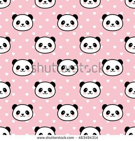 cute cartoon pattern seamless cute cartoon panda pattern stock vector 523824454