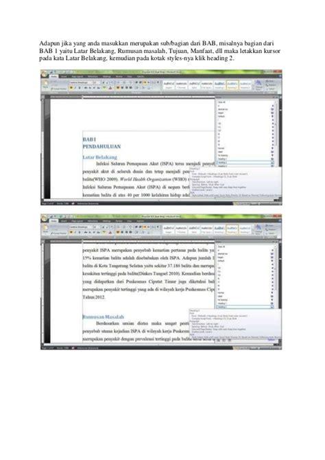 cara membuat daftar isi otomatis pada microsoft office word 2010 cara membuat daftar isi otomatis pada microsoft office