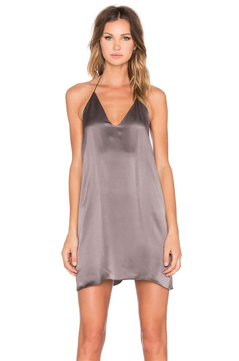 Amanda Dress Grey 1 amanda uprichard x revolve y back rhinestone dress in gray